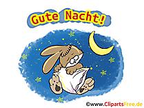 Grußkarte Gute Nacht, Nachtgrüsse kostenlos