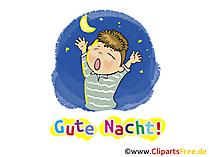 Grußkarten Gute Nacht, Nachtgrüsse