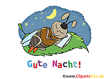 Gute Nacht Cartoon, Bild, Clipart gratis