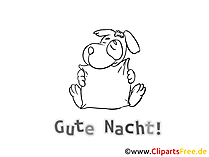 Welterusten cartoon om te downloaden en in te kleuren