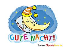 Gute Nacht Gruss, Clipart, Karte, GB Bild