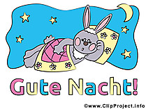 Gute Nacht Hase Clipart