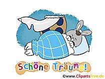 Gute Nacht Wünsche für Verliebte - Schlaf gut mein Hase!