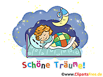 Karte gute Nacht GB Bild, Cartoon, Grafik, Illustration gratis