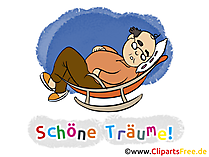 Schlafen Clipart, GB Bild, Cartoon, Grafik, Illustration gratis