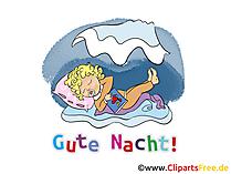 Träum schön Karte, GB Bild, Cartoon, Grafik gratis