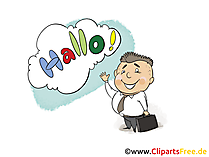 Hallo Clip Art, Bild, Grafik, Karte, Cartoon