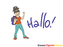 Hallo Grusskarte, Clipart, Bild, Grafik gratis