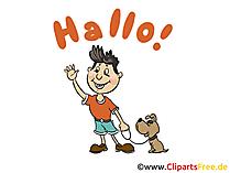 Wollte nur mal Hallo sagen Karte, GB Bild, Cartoon