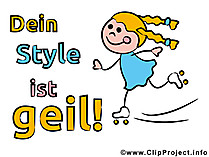 Gästebuch Sprüche - Dein Style ist geil!