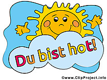GB Bilder Sprüche - Du bist hot!