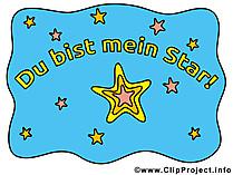 Komplimente Bilder - Du bist mein Star