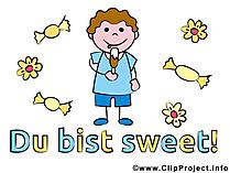 Sprüche mit Bild - Du bist sweet!