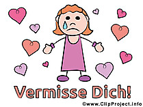 Maedchen weint Clipart