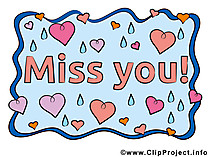 Miss you Karte - Clipart