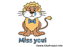 Miss you Loewe Clipart