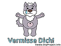 Vermisse Dich Cartoon