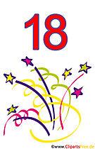 18. Geburtstag Clipart gratis