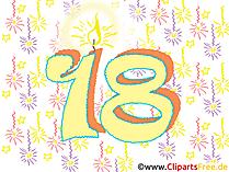18 Geburtstag Karten und Cliparts