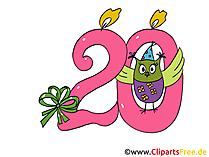 20 urodziny clipart