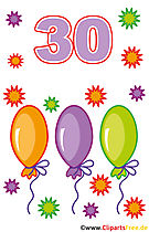 30 birthday pictures clipart