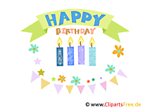 Birrthday clipart, graphic, e-card, picture gratis