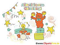 Clipart zum Drucken Geburtstag