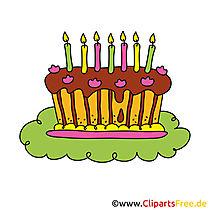 Einladung zum 40 Geburtstag mit Kuchen Clipart gestalten