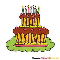 Einladungskarten zum Geburtstag selbst gestalten - Geburtstagskuchen