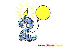 Geburtstag 2 Jahre - Bilder zum Geburtstag