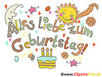 Geburtstag Cliparts kostenlos