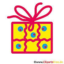 Geburtstags E-Card Geschenk Clip Art