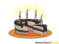 Geburtstagskuchen mit Kerzen Bild - Clip Art