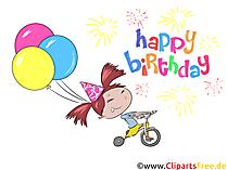 Geburtstagswünsche für Mädchen - Clipart-Bilder zum Geburtstag