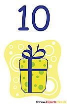 Geschenk zum 10 Geburtstag Clipart gratis