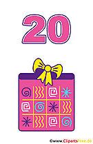 Prezent dla 20 Birthday Clipart Free