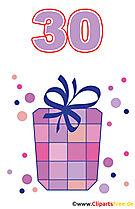 Prezent dla 30 Birthday Clipart Free