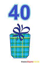 Prezent dla 40 Birthday Clipart Free