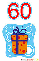 Gift for 60 Birthday Clipart Free