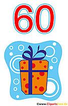 Prezent dla 60 Birthday Clipart Free