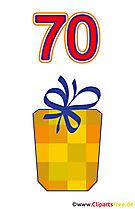 Prezent dla 70 Birthday Clipart Free