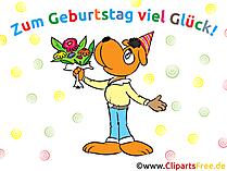 Glückwuensche zum Geburtstag Karte