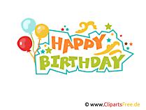 Happy Birthday Buchstaben zum Drucken Clipart, Vorlage