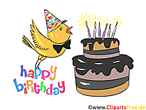 Happy Birthday funny e-Card, Clip Art, Chick for free