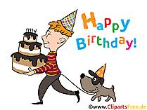 Happy Birthday Karte zum Ausdrucken