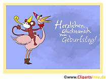 Herzlichen Glückwunsch zum Geburtstag Clipart, Karte, Illustration