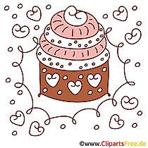 Kostenlose Cliparts zum Geburtstag - Torte Clipart