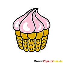 Kuchen Cartoon Clipart free