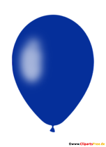 Blue Air Balloon PNG Clipart with Transparent Background