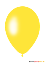 Yellow balloon clipart in png format with transparent background